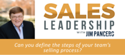 Can you define the steps of your team's selling process?