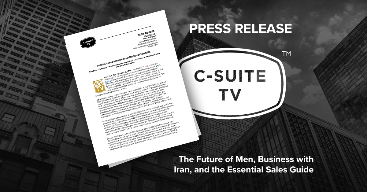 The Future of Men, Business with Iran, and the Essential Sales Guide