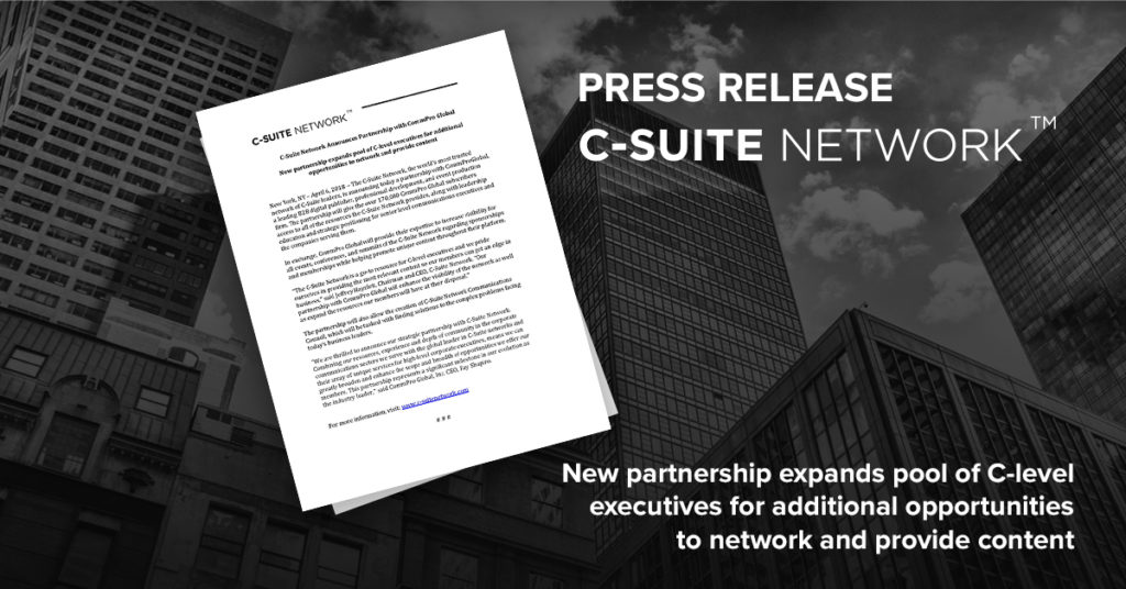 C-Suite Network Announces Partnership with CommPro Global
